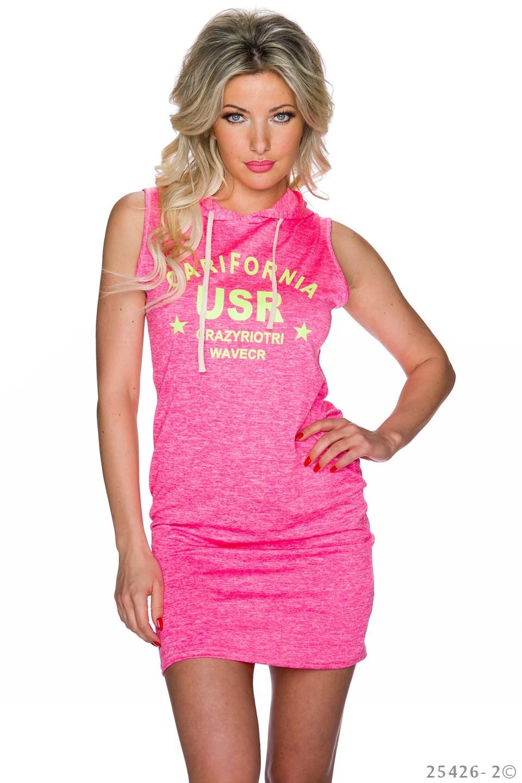 2d5b98e8c5d Růžové neonové dámské šaty