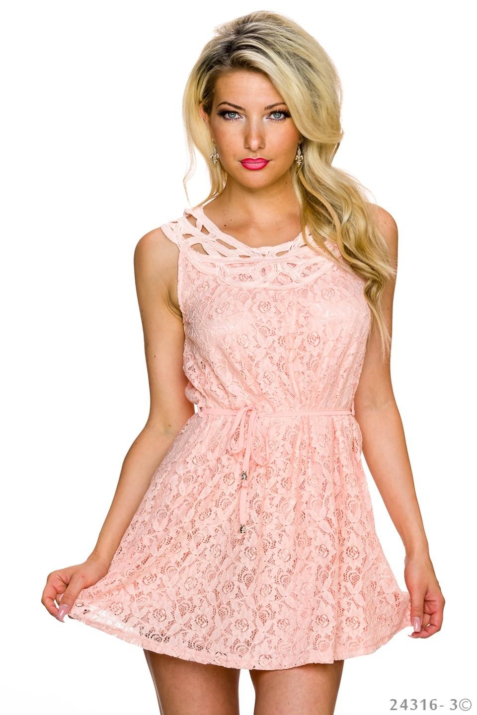 Růžové dámské letní šaty  6db8c2fc1f