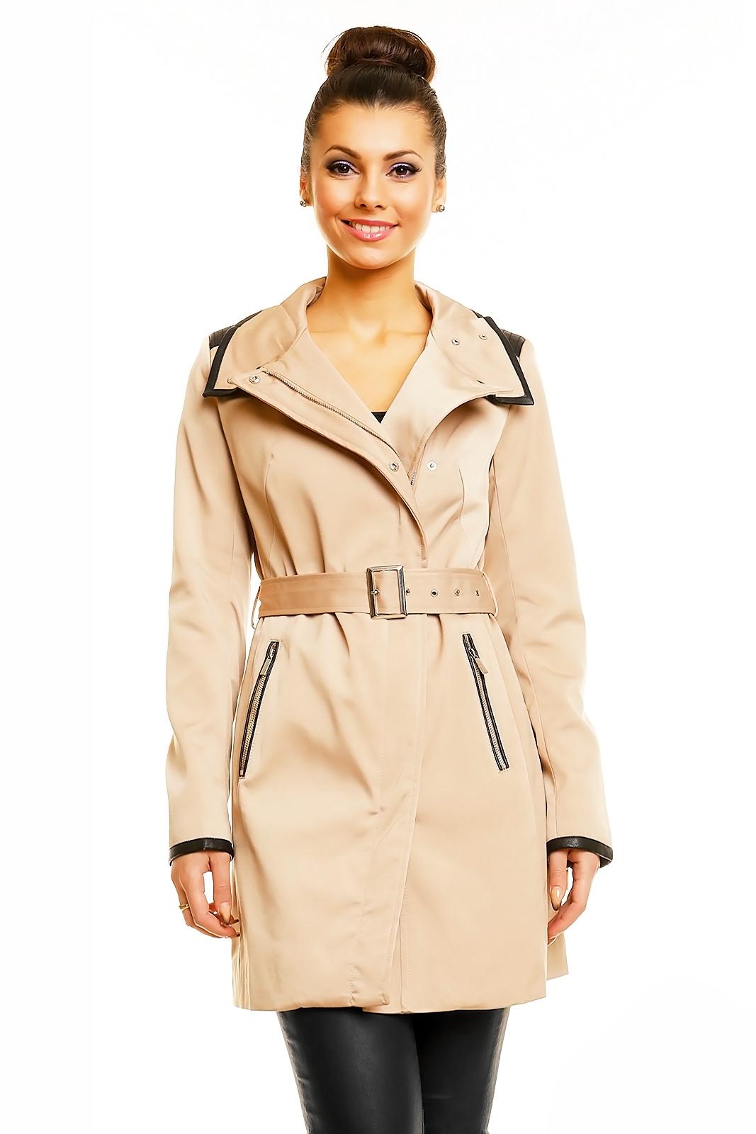 fa1cc36078 Béžový dámský dlouhý kabát