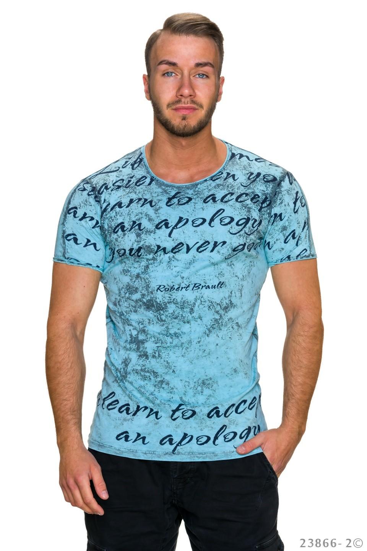 3c3dcd448c7f Tyrkysové pánské tričko