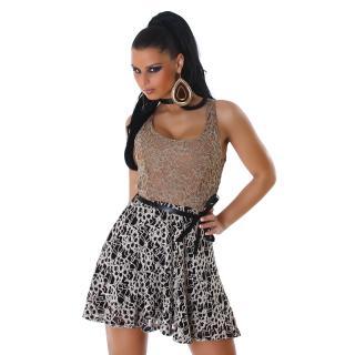 Hnědo vzorované dámské šaty empty 888c2e0c77